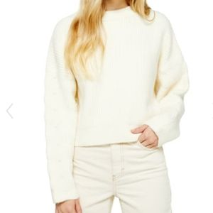 NWT Topshop Ivory Cropped Oversized Sweater